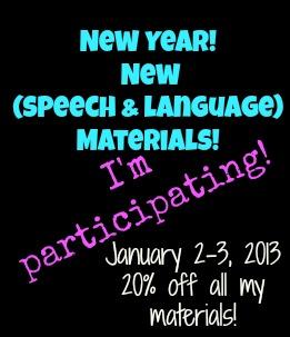 New Year, New ( Speech and Language ) Materials!