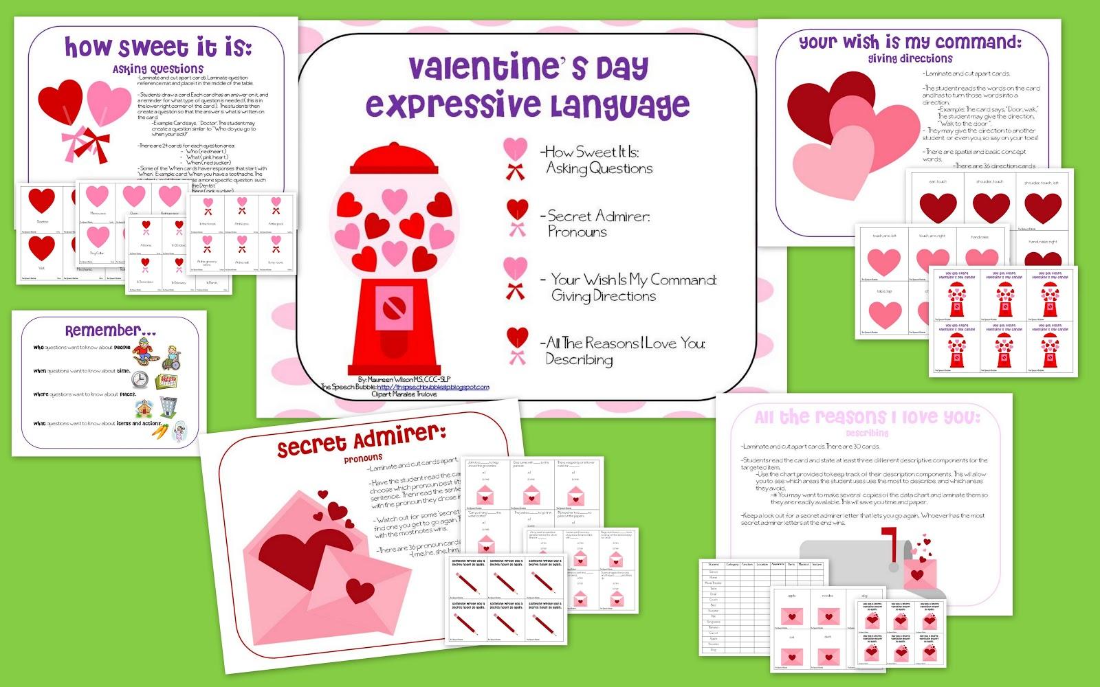 Valentine's Day Expressive Language