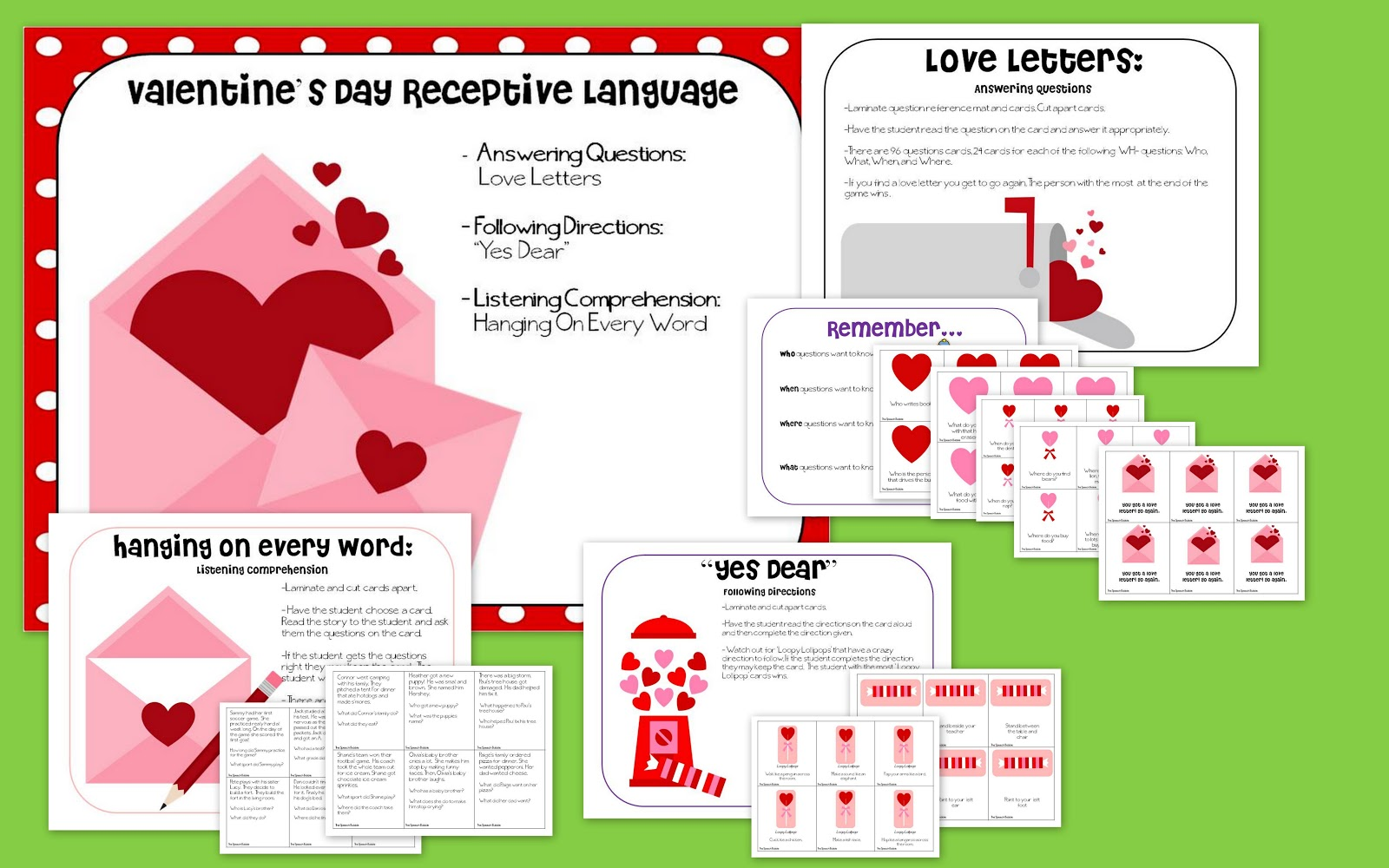Valentine's Day Receptive Language