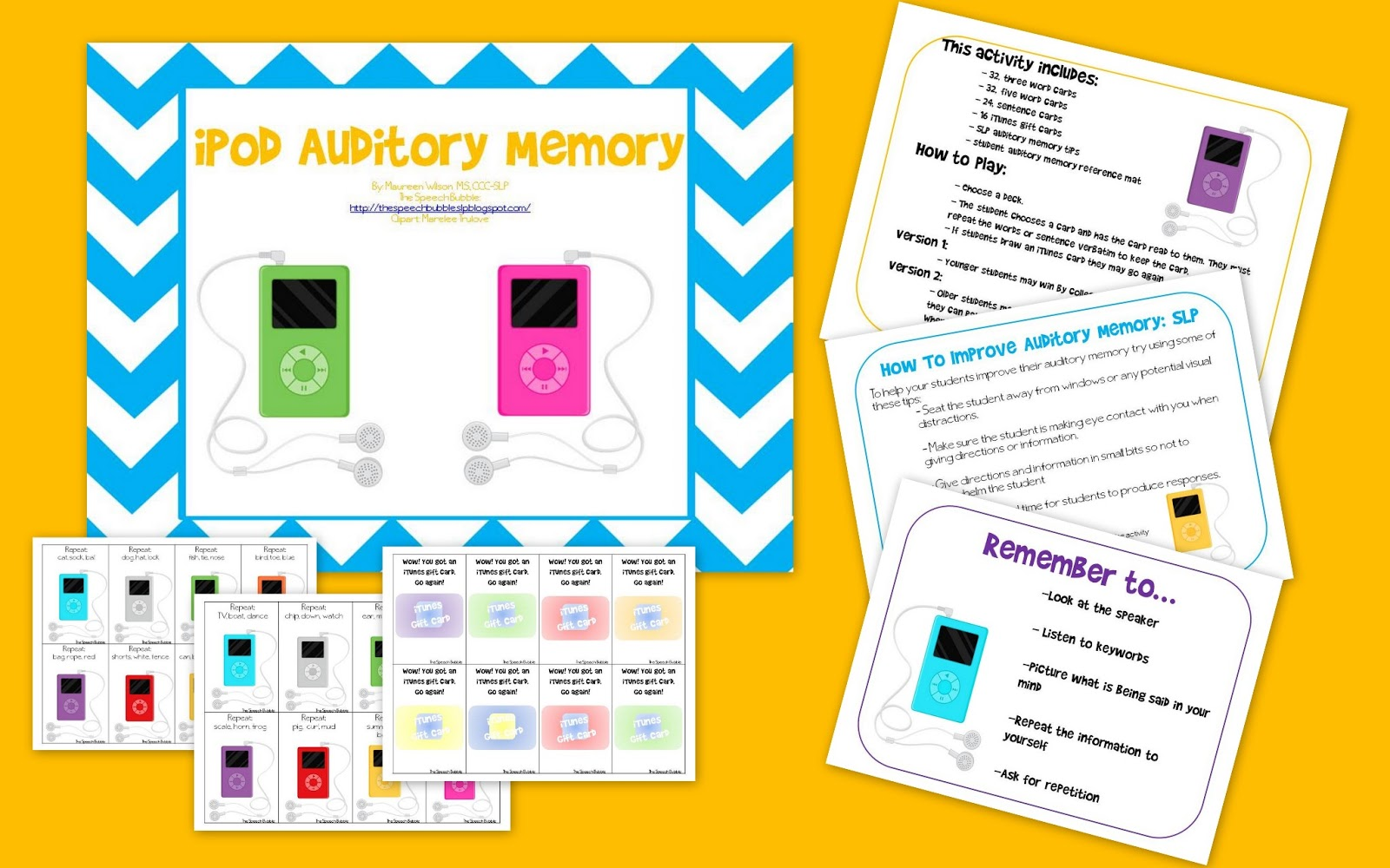 iPod Auditory Memory and License Plate Listening Comprehension