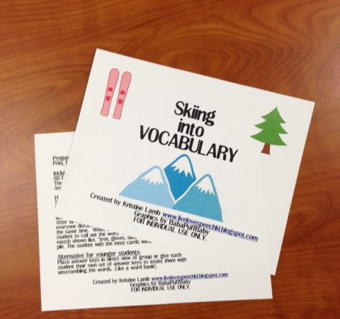 Skiing into Vocabulary: Review