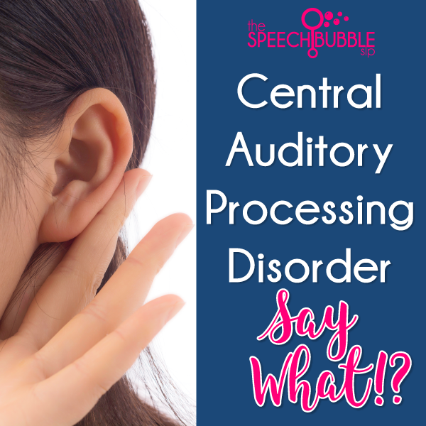 Central Auditory Processing Disorder…Say What?