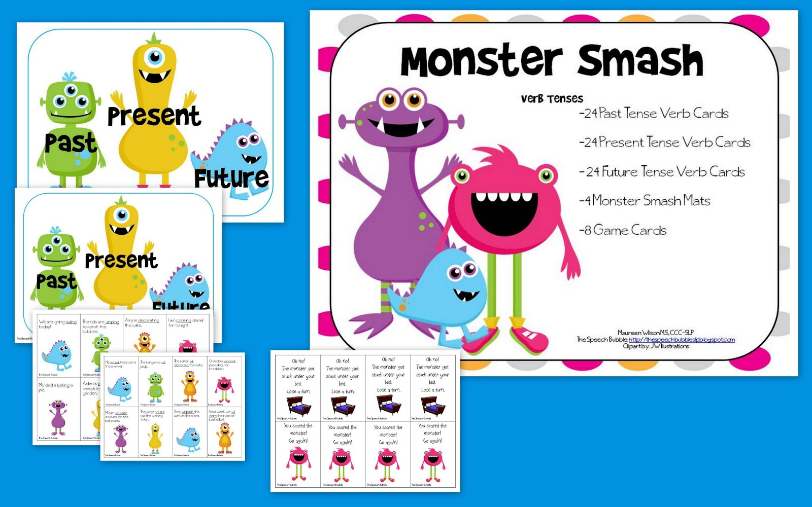 Monster Smash: Verb Tenses - The Speech Bubble