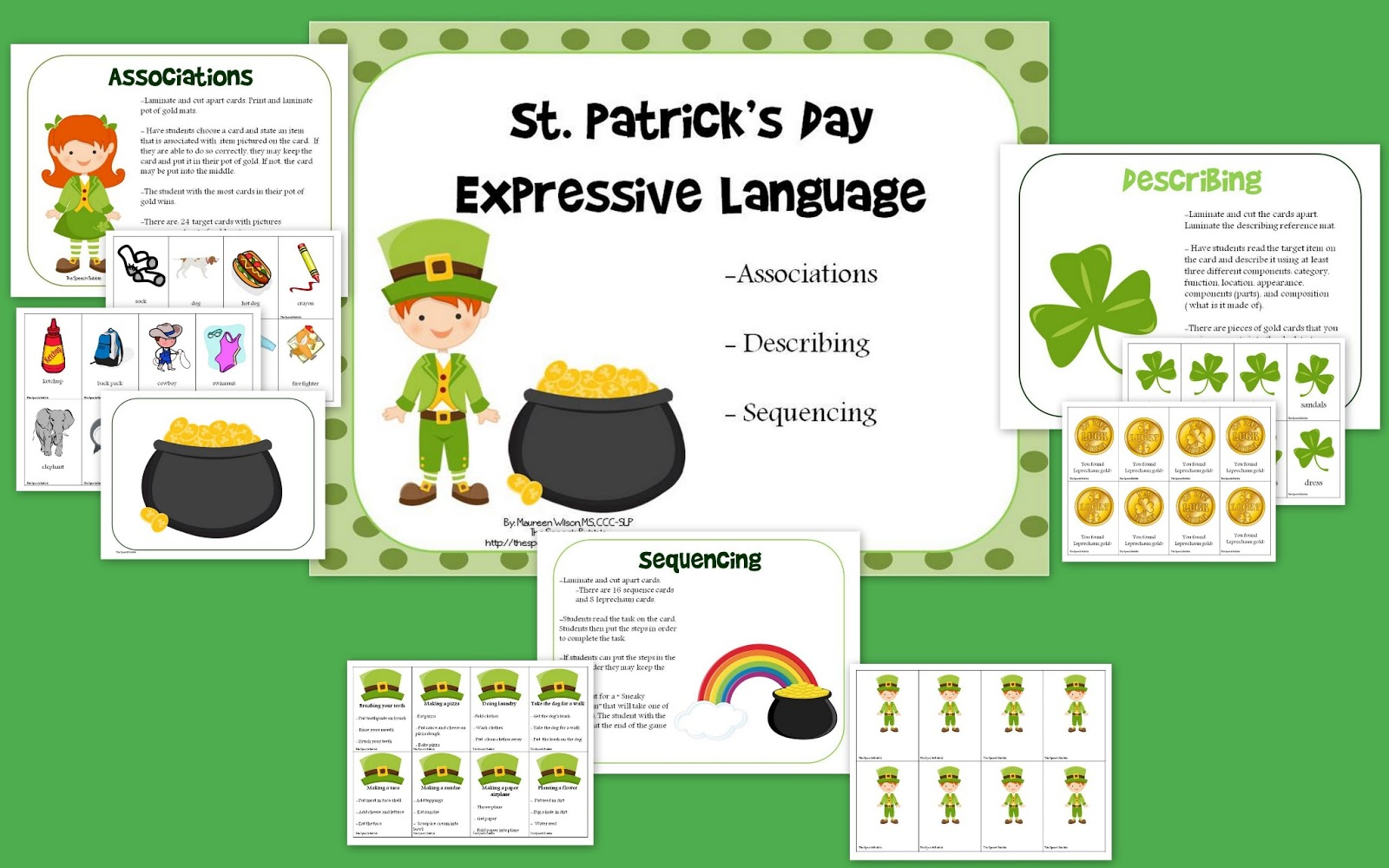 St. Patrick's Day Expressive Language Giveaway (Part I)