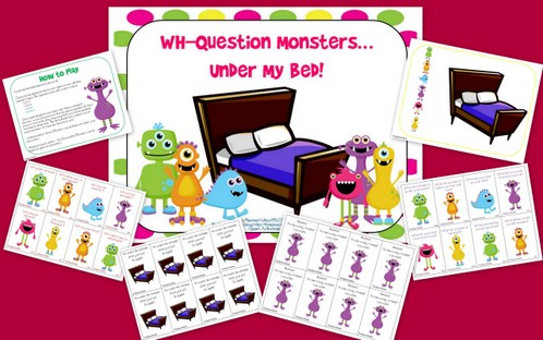AHHHHH! WH-Question Monsters Under My Bed!