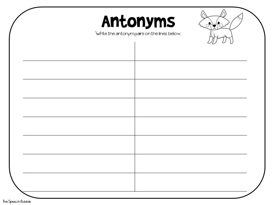 teaching synonyms and antonyms