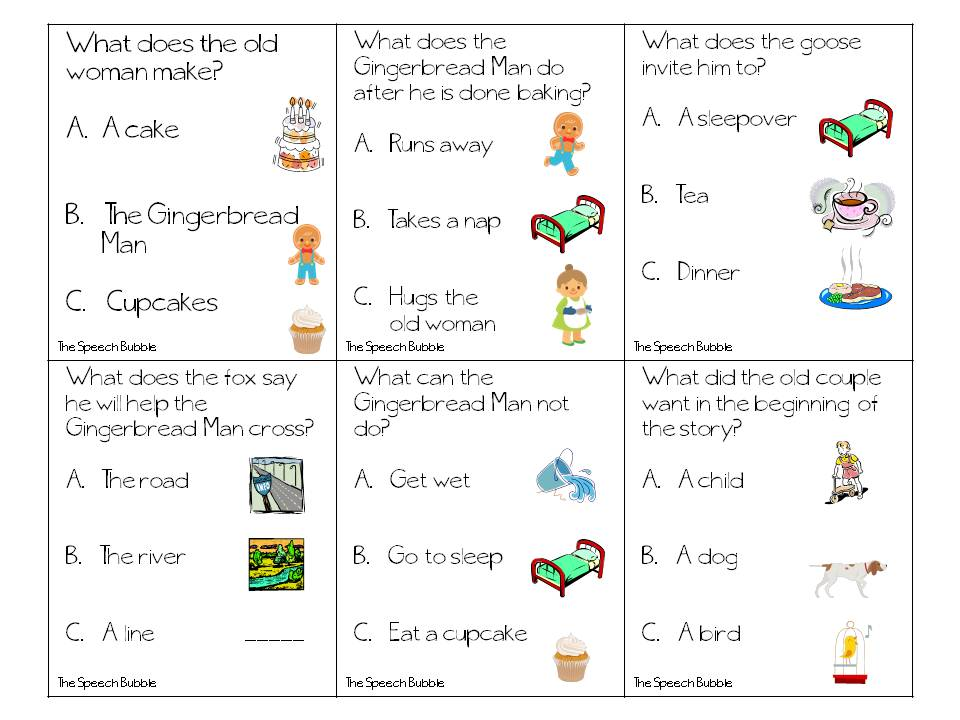 The Gingerbread Man: Speech and Language Book Companion ...