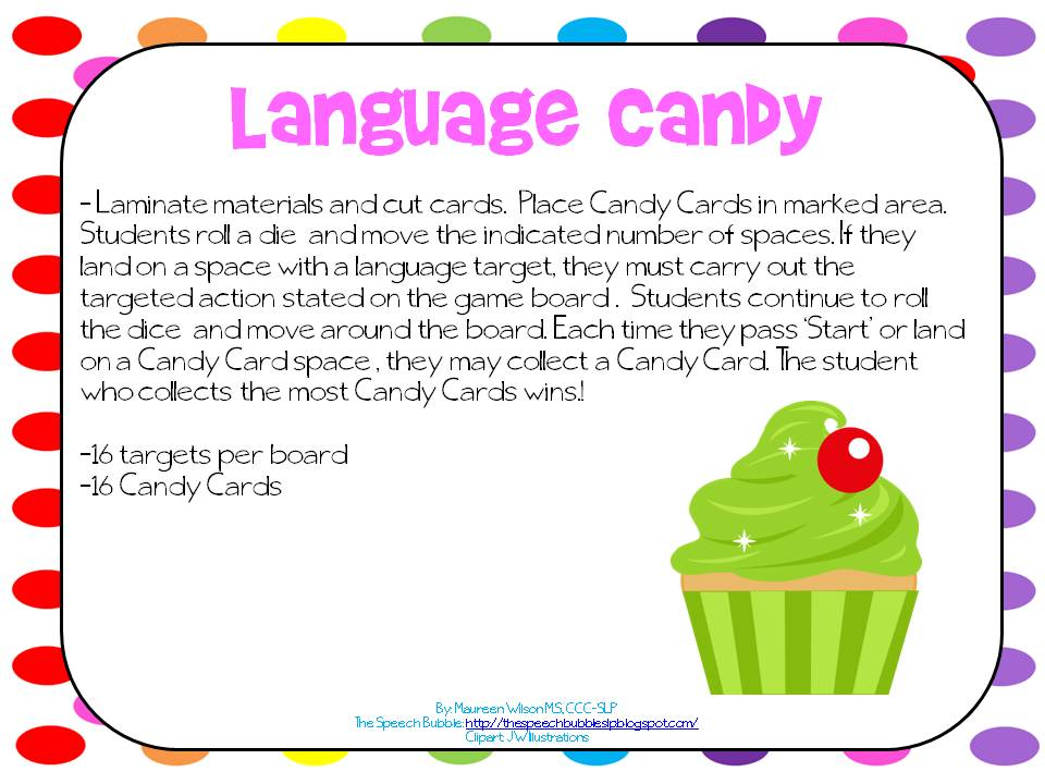 Language Candy Board Games