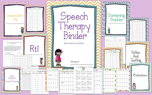 Speech Therapy Organizational Binder