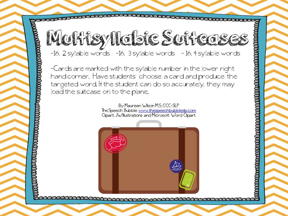 Multisyllabic Suitcases: FREEBIE