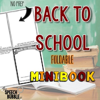 first day of speech ideas back to school foldable minibook the speech bubble slp