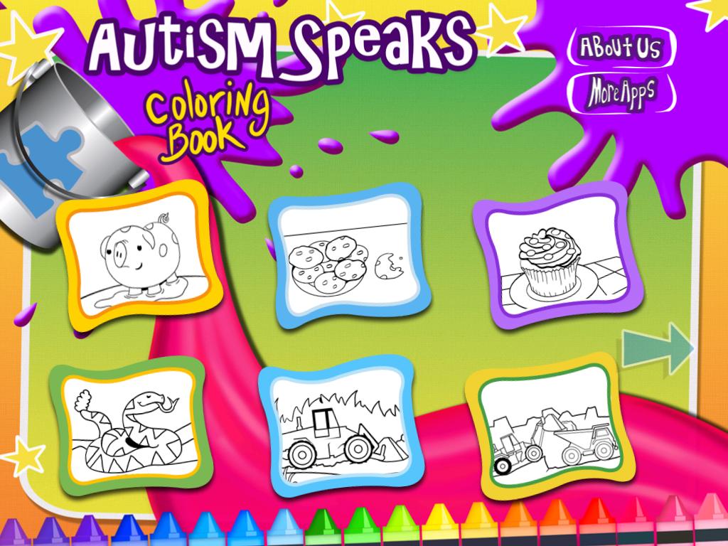 Autism Speaks Coloring Book: App Review