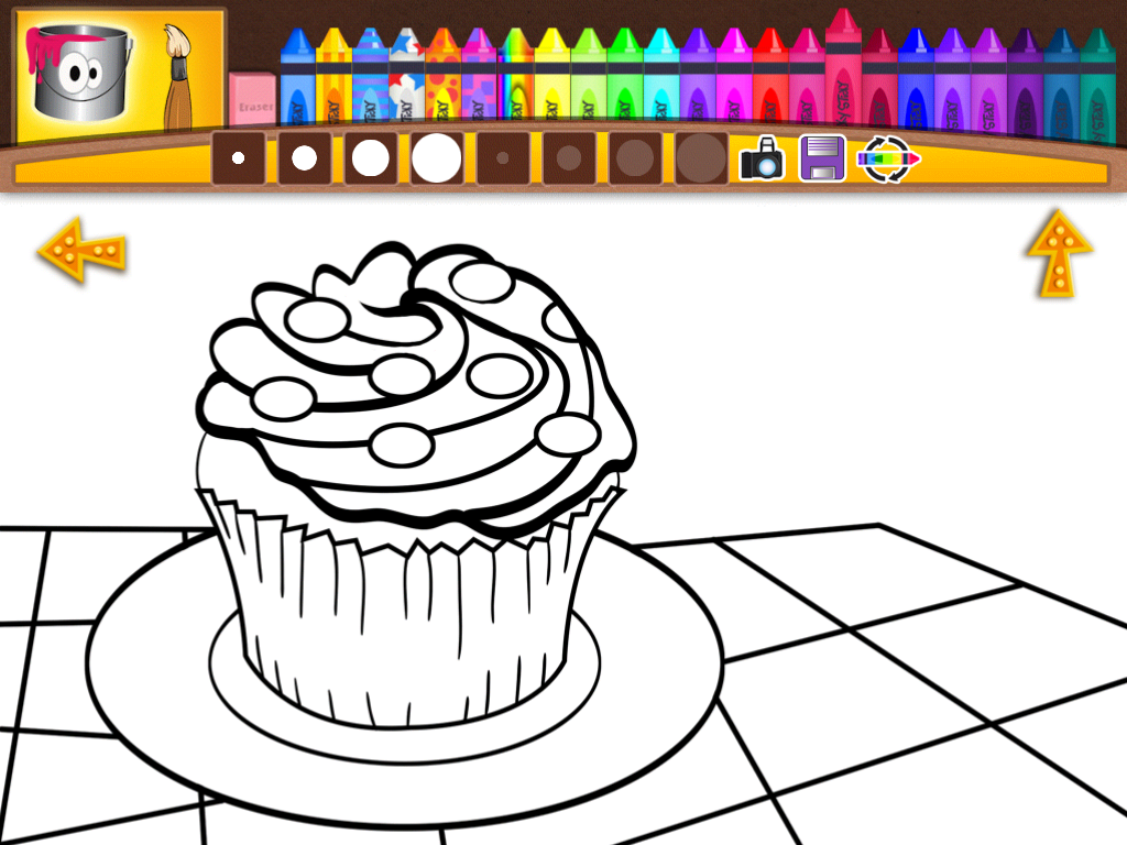 There Are Oodles Of Different Colors And Patterns To Choose From Change Just Tap The Multicolored Crayon In Tool Bar