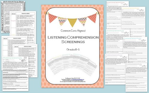 Listening Comprehension Screenings