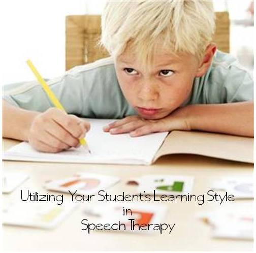 Harnessing Learning Styles:  Utilizing Your Student's Learning Style in Speech Therapy