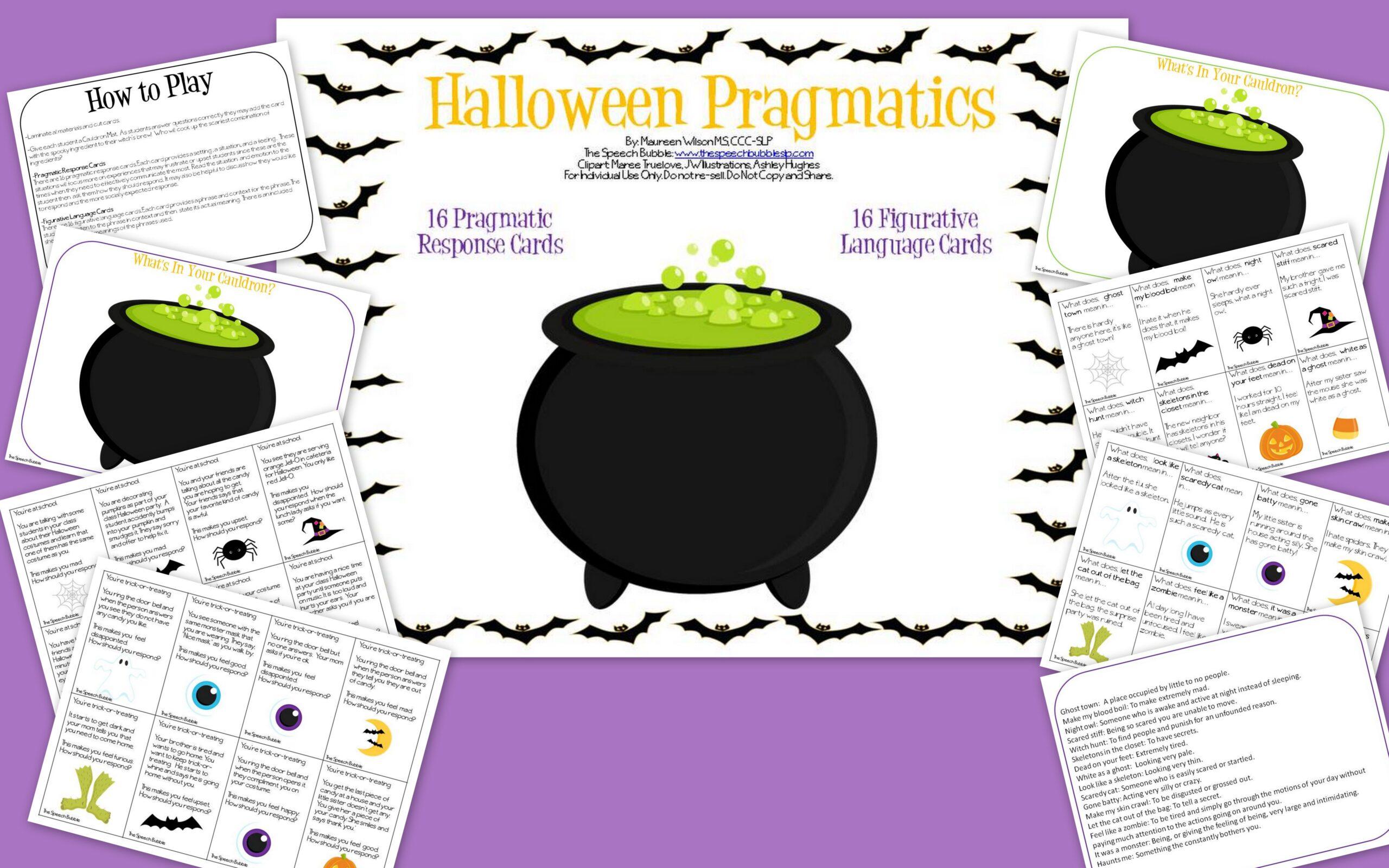 halloween pragmatics other spooky speech activities the speech