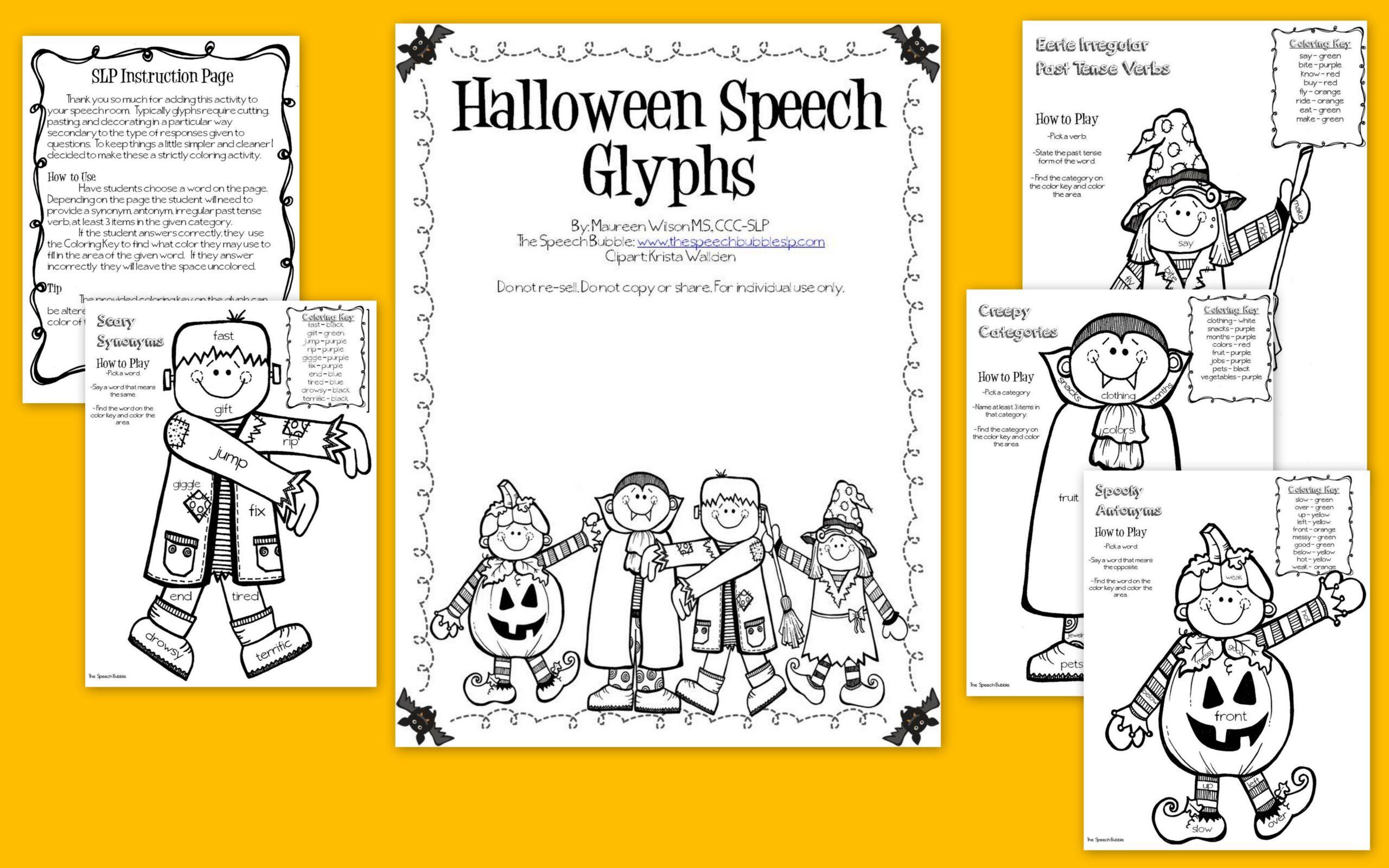 halloween speech glyphs - Halloween Glyphs