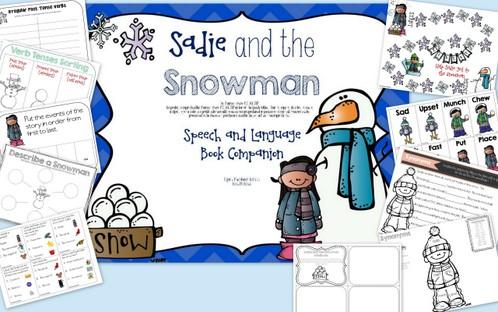 Sadie and the Snowman winter speech activities the speech bubble slp