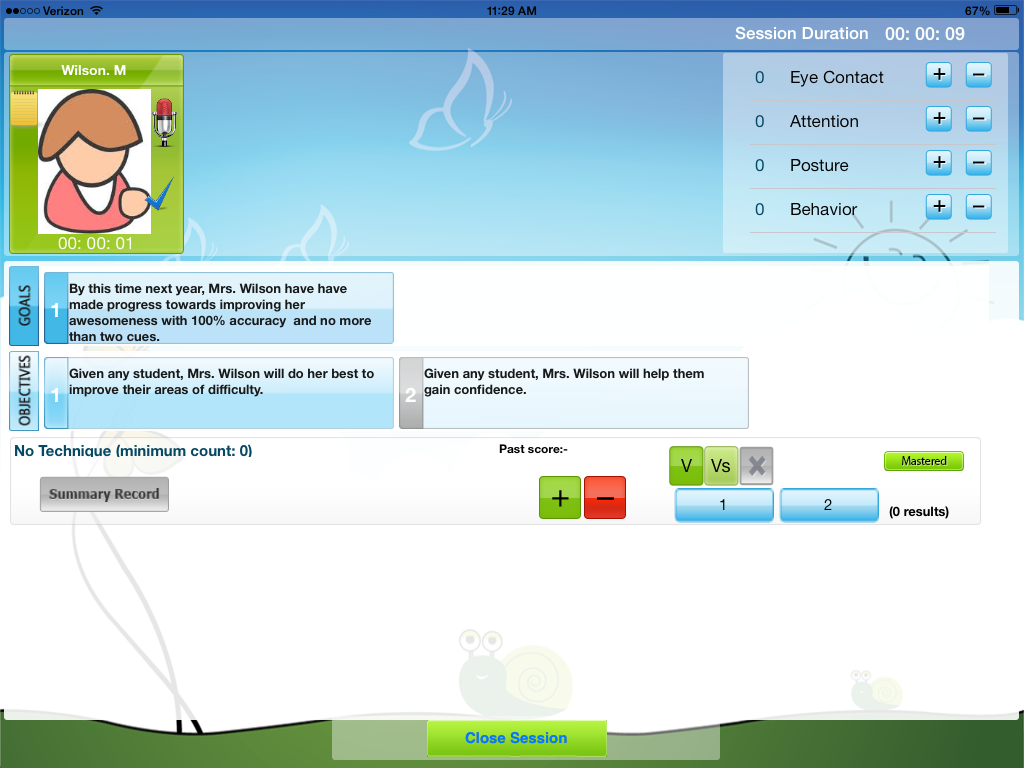 iep pal data tracking student id screen the speech bubble slp