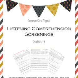 Listening Comprehension Screenings Grades 6-8