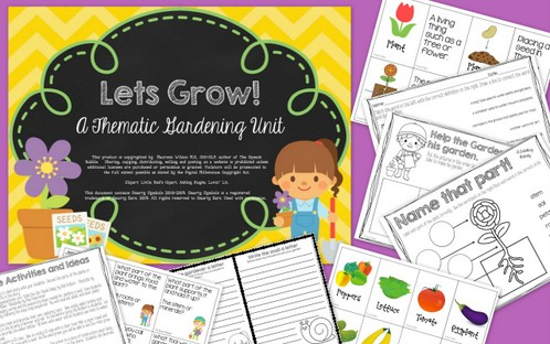 Let's Grow! Gardening & Spring Themed Speech Unit