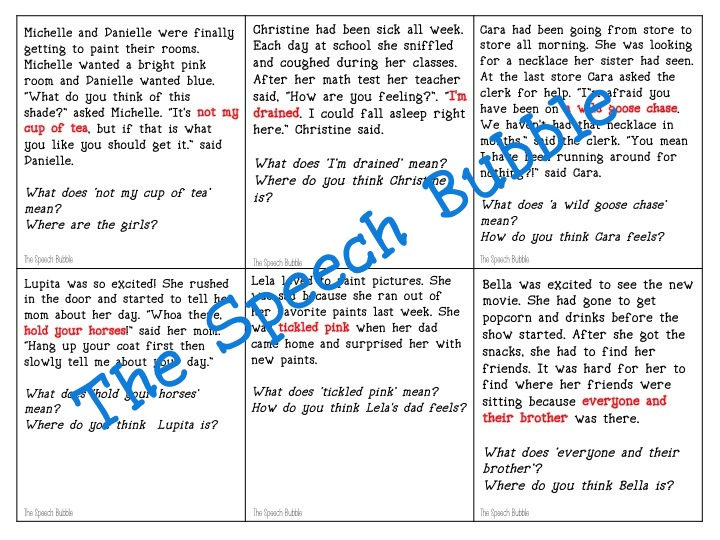 Inferring and Predicting with Figurative Language - The Speech Bubble
