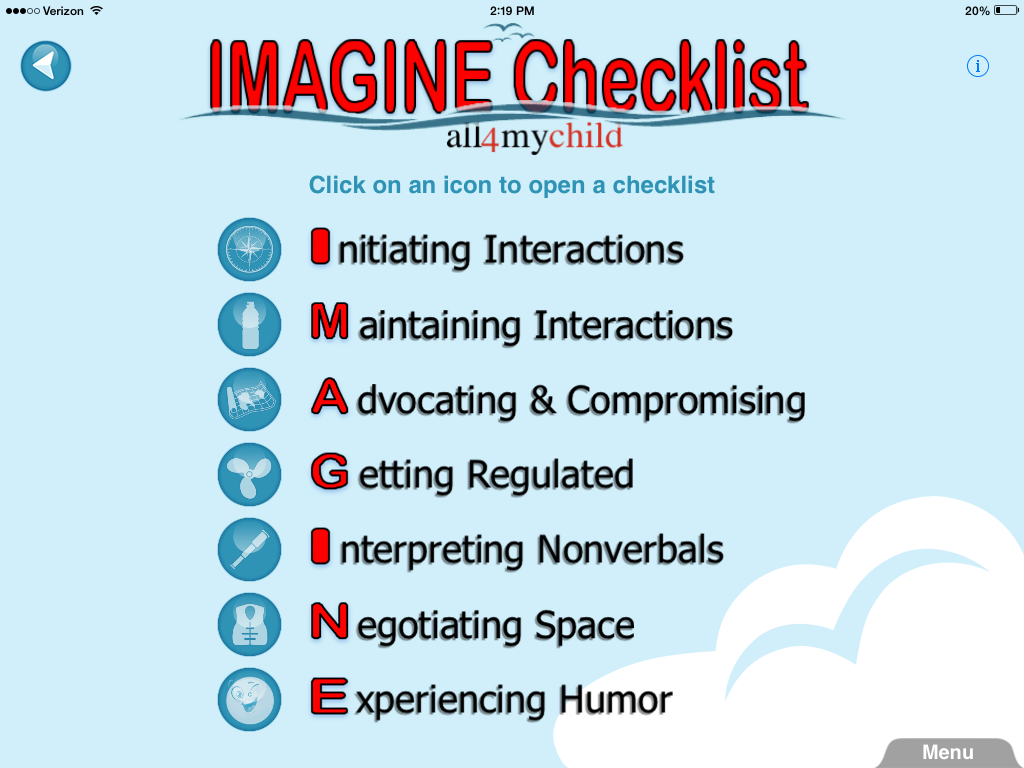 IMAGINE Checklist by all4mychild: App Review