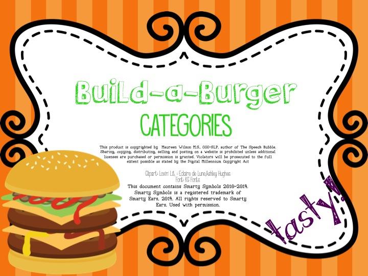 Build-a-Burger Categories: FREEBIE!