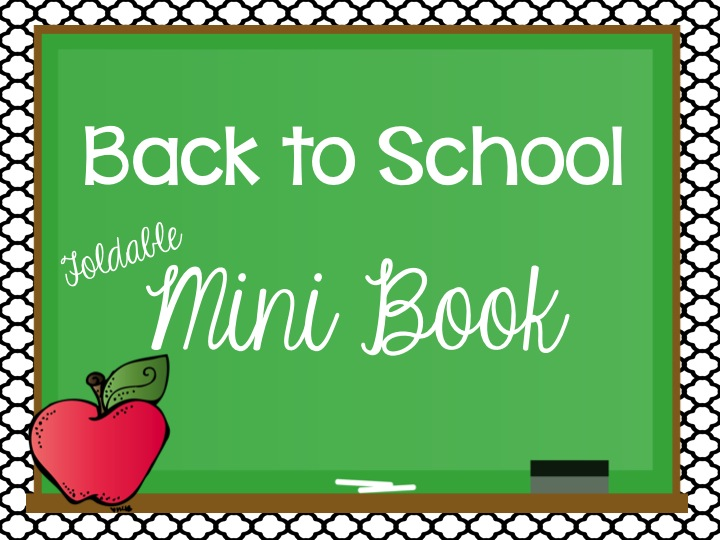 Back to School Mini Book: FREEBIE