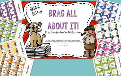 Speech Therapy Brag Tags: Reinforcement System