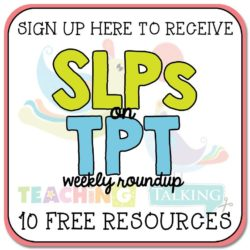 SLPs on TPT Newsletter