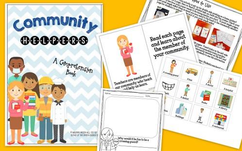Community Helpers Comprehension Book