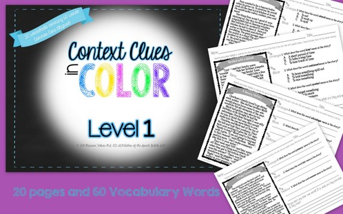 Context Clues in Color Level 1