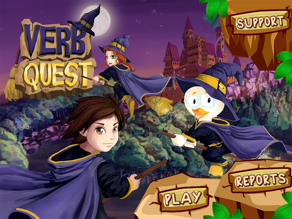 Verb Quest: App Review and Giveaway