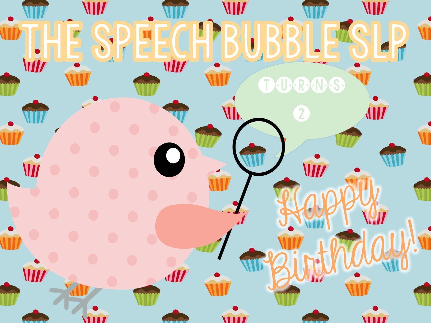 The Speech Bubble SLP turns 2!