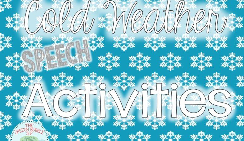 Cold Weather Speech Activities