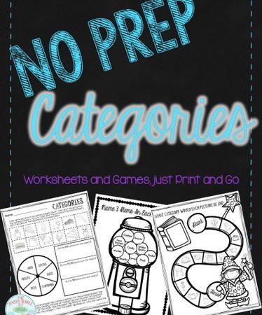 No Prep Categories