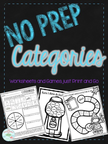 No Prep Categories