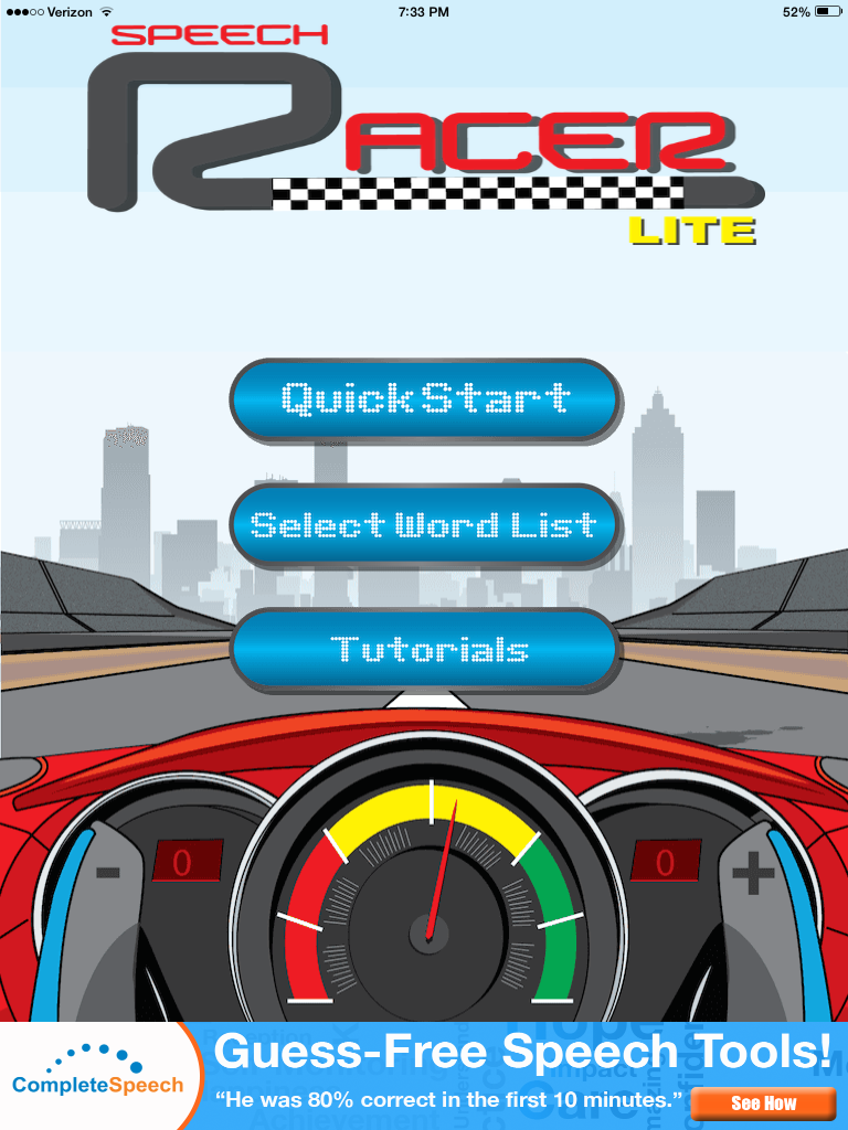 Speech Racer LITE App Review