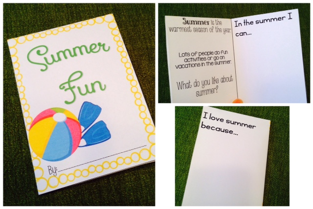 Summer Foldable Minibook