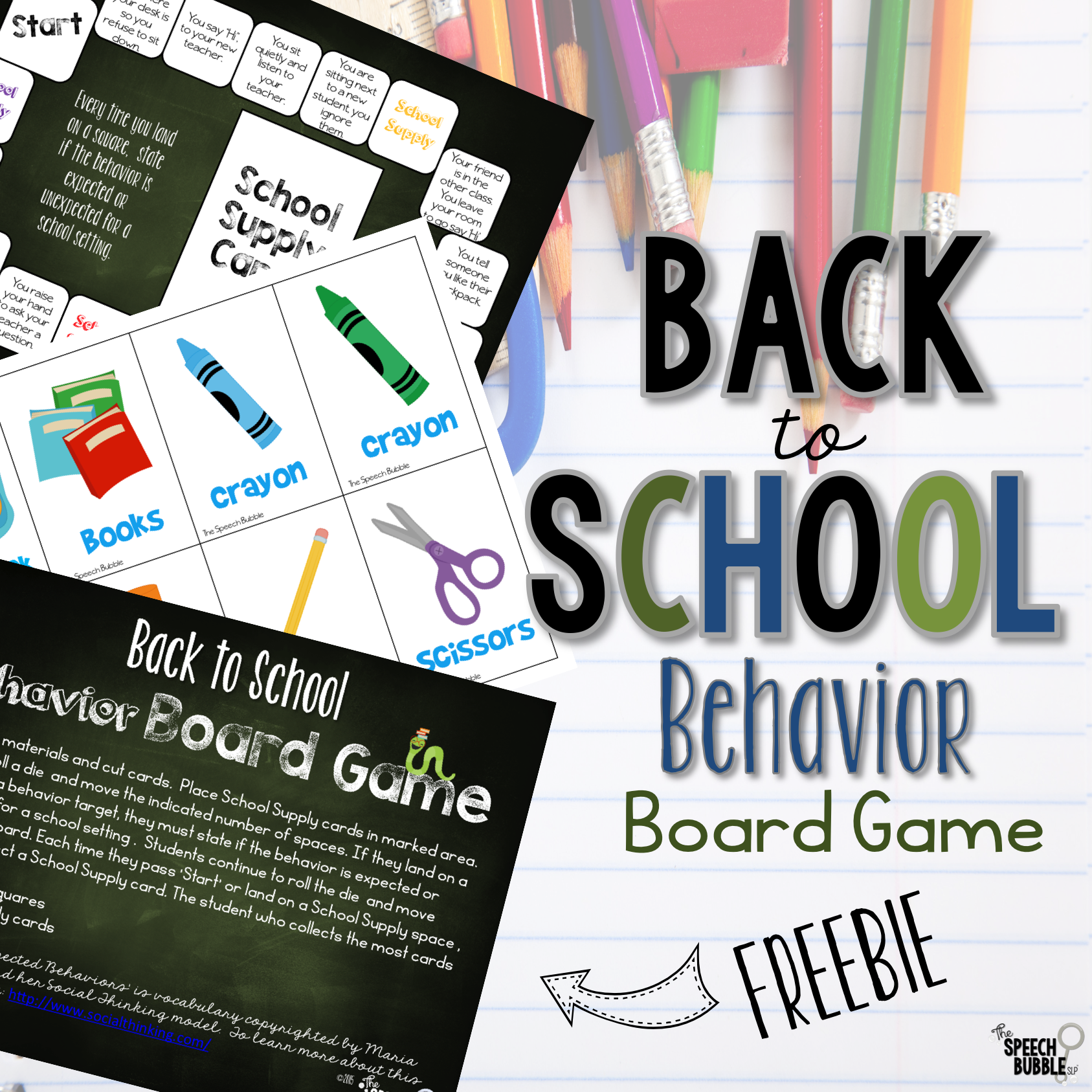 Back to school behavior freebie