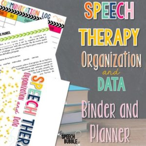 Best Selling Speech Therapy Binder