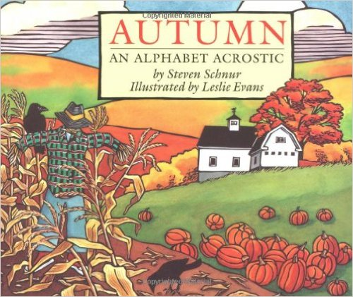 fall books for speech therapy autumn an alphabet acrostic steven schnur leslie evans cover