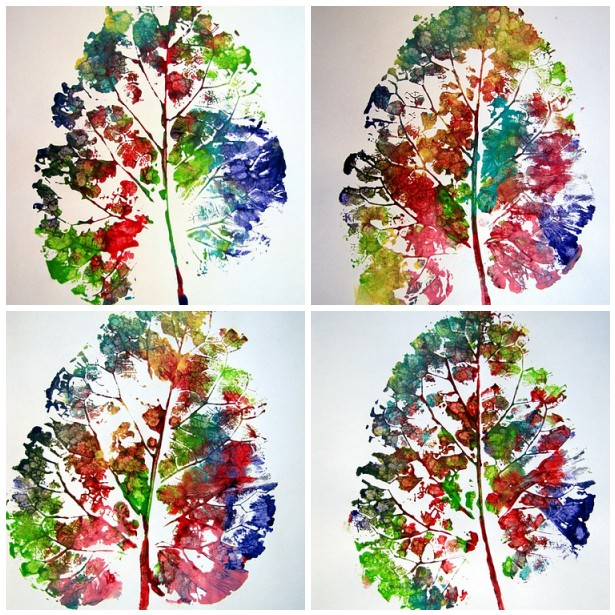 fall activity speech therapy leaf prints