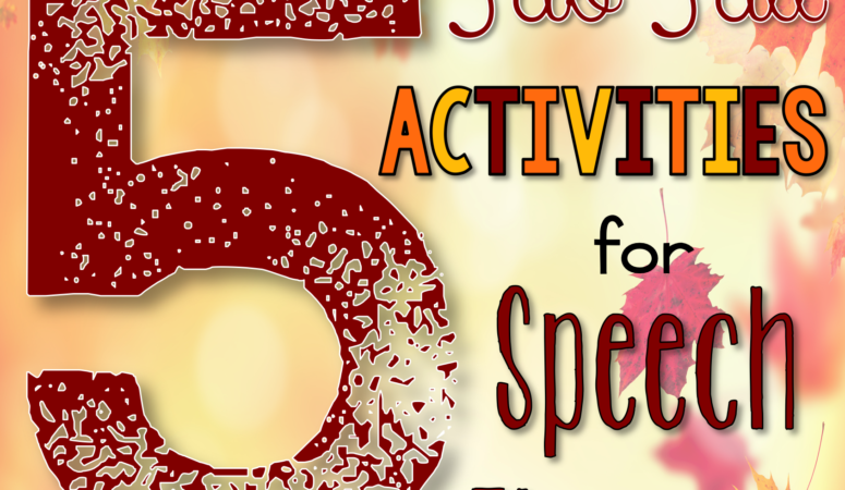 5 Fab Fall Activities for Speech Therapy