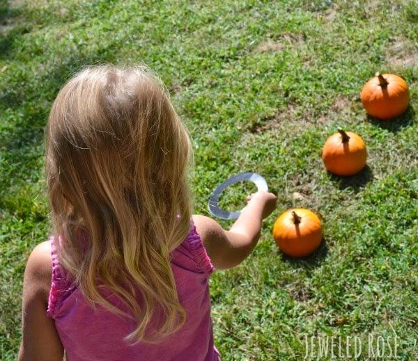 pumpkin ring toss fall activity speech therapy