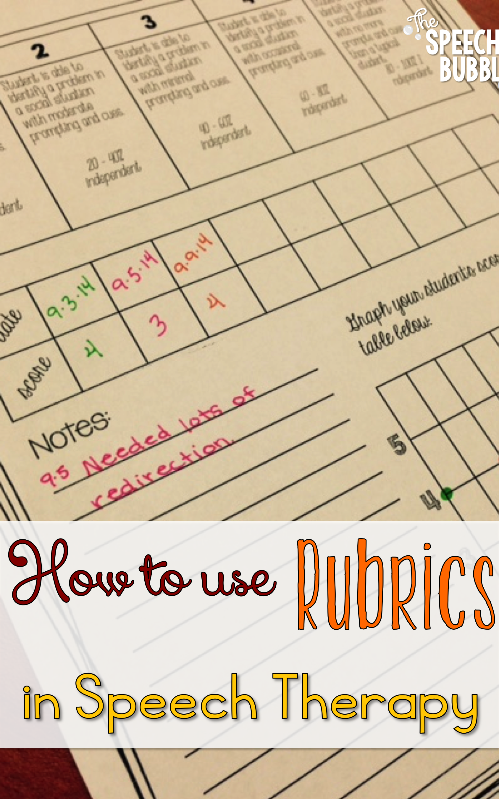 how to use rubrics in speech therapy the speech bubble slp