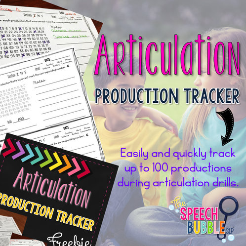 Articulation Production Tracker Freebie!