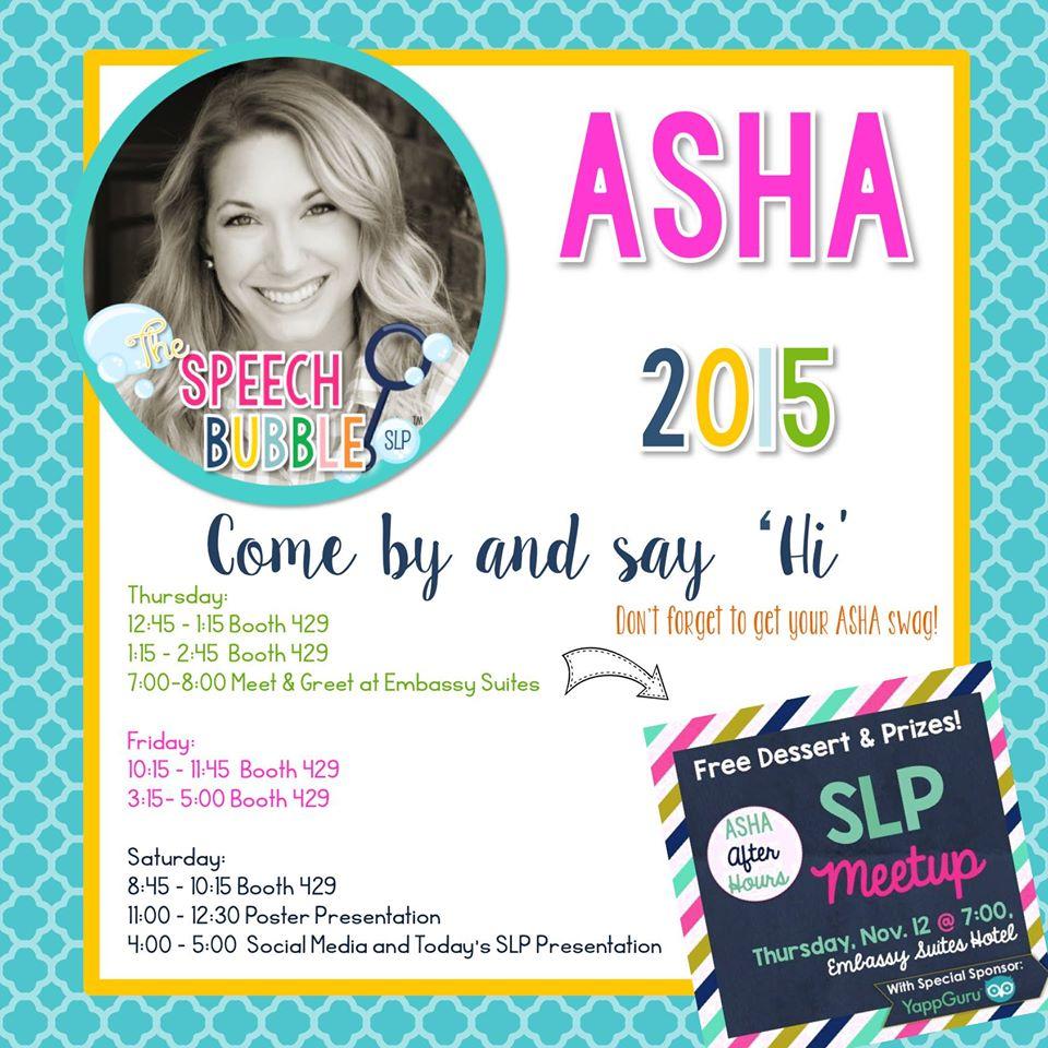 ASHA 2015 or BUST!