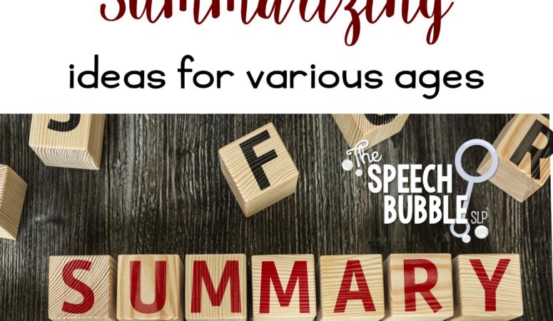 How to Introduce Summarizing